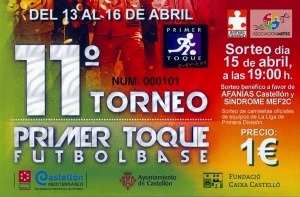 Sorteo solidario en el 11º Torneo Primer Toque Castellón Mediterráneo!!!